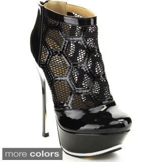 Fahrenheit Women's 'Amy-04' Mesh Cage Platform Heels.