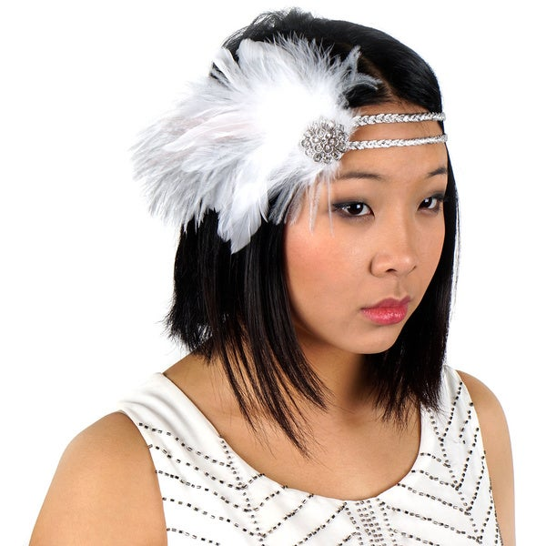 Feather Headband with Ostrich/ Schlappen
