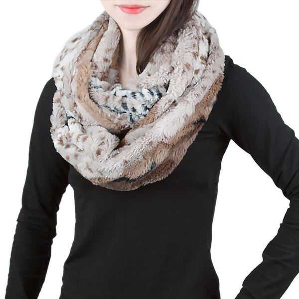 Luxurious Reversible Leopard Print Infinity Scarf