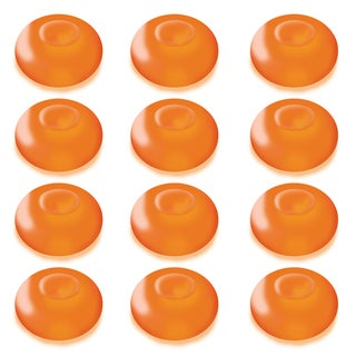 Floating Orange Battery Operated LED Light (Pack of 12)