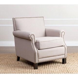 ABBYSON LIVING Chloe Beige Linen Club Chair