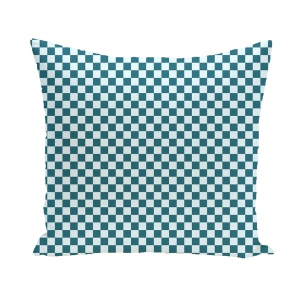 Small Check Geometric 16-inch Decorative Pillow