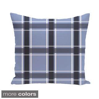 Plaid Geometric 16-inch Accent Pillow