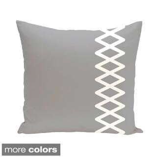 Side Diamond Stripe Geometric 16-inch Decorative Pillow