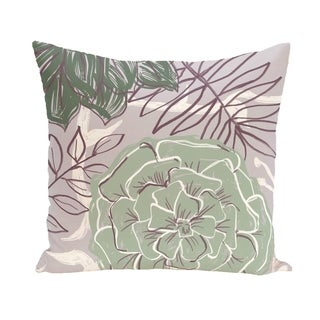 Tropical Floral 16-inch Decorative Pillow