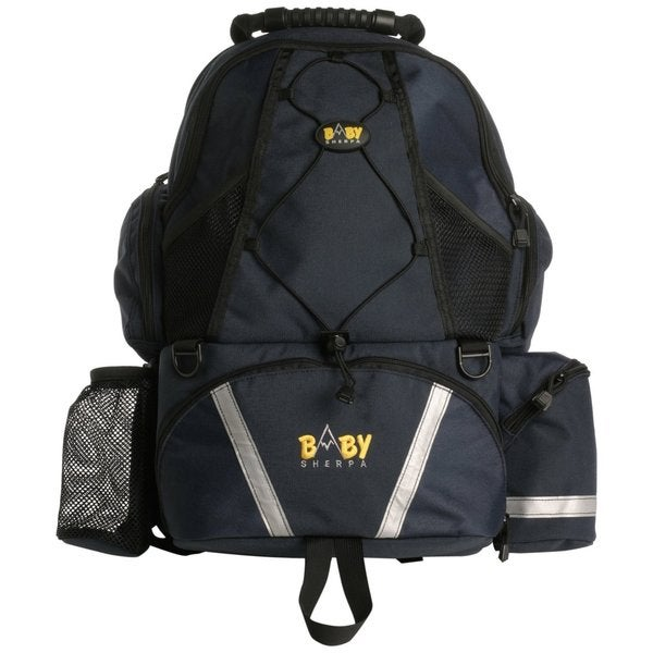 Baby Sherpa Diaper Backpack in Navy