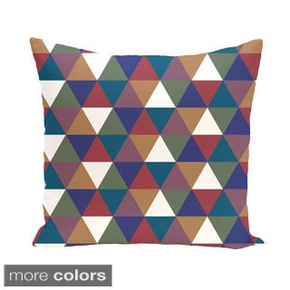 Abstract Triangle Geometric 16-inch Decorative Pillow