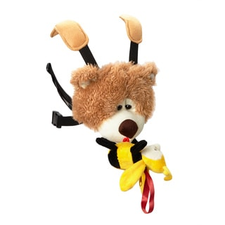 Baby Sherpa Safe2Go Child Safety Harness Backpack Fuzzy Bear with Bee