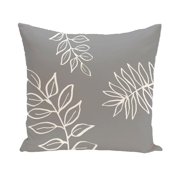 Simple Leaf Design 26-inch Decorative Pillow