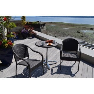3-piece Wicker and Aluminum Coffee House Bistro Set