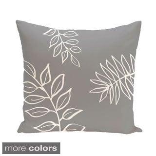 Simple Leaf Design 16-inch Decorative Pillow