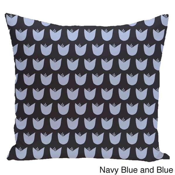 Simple Tulip Design 20-inch Decorative Pillow