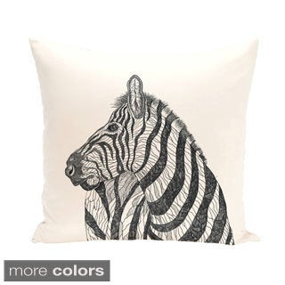 Zebra Design 18-inch Decorative Pillow
