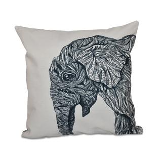Elephant Design 20-inch Decorative Pillow