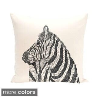 Zebra Design 20-inch Decorative Pillow
