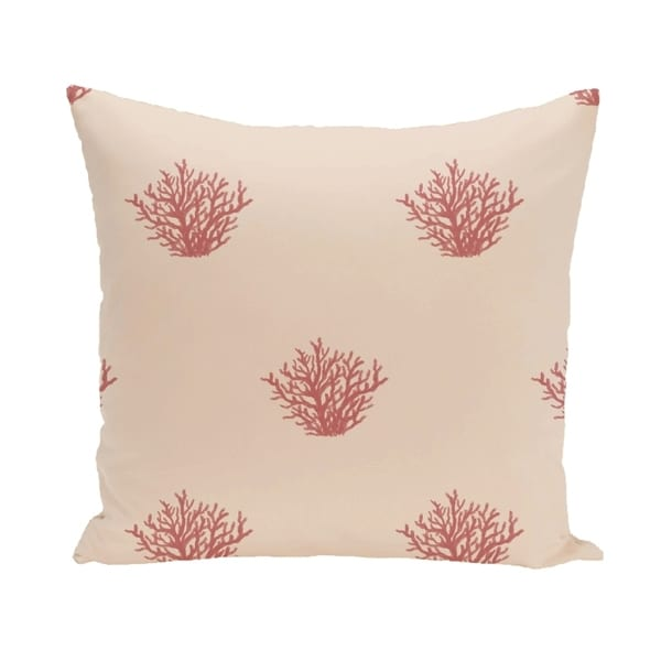Ocean Coral Design 16-inch Decorative Pillow