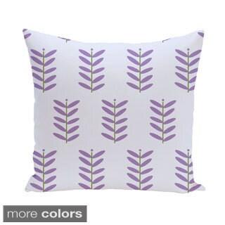 Fern Leaf Design 18-inch Decorative Pillow