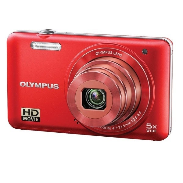 Olympus VG-160 14MP Red Digital Camera with Bonus Accessory Kit