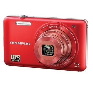 Olympus VG-160 14MP Red Digital Camera with Bonus Accessory Kit