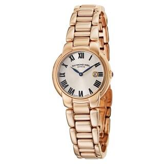 Raymond Weil Women's 'Jasmine' Stainless Steel Rose Gold PVD Coated Swiss Quartz Watch
