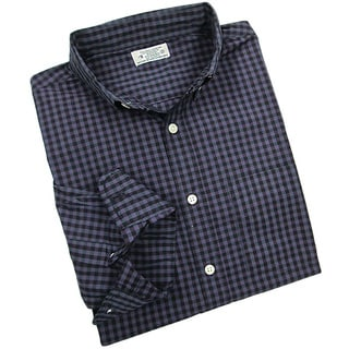 Reed Edward Men's Purple Gingham Plaid Button-down Shirt
