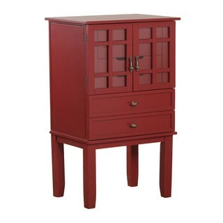 Oh! Home Monroe Red Jewelry Armoire