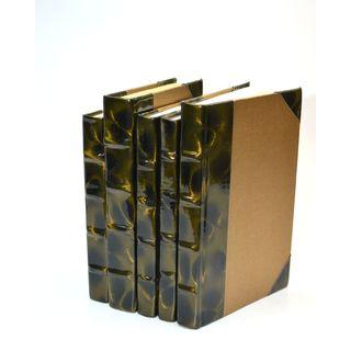 Prismatic Patent Books - Brown/Gold S/5