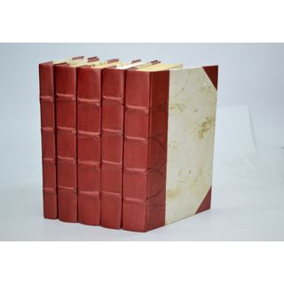 Parchment Collection Books, Merlot S/5