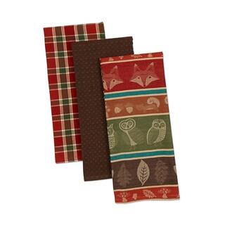 Design Imports Woodsy Dishtowel (Set of 3)