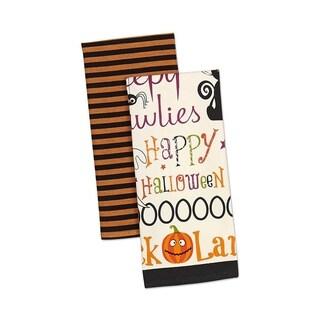Design Imports Happy Halloween Dishtowel (Set of 2)