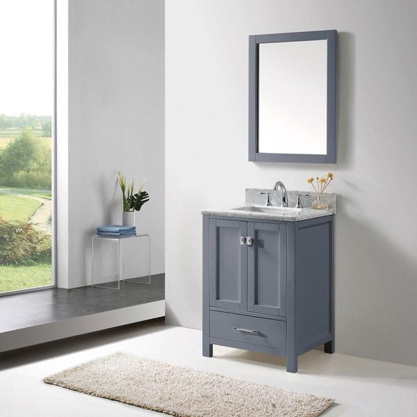 Virtu Usa Caroline Avenue 24 Inch Grey Single Bathroom Vanity Cabinet Set 16981498 Overstock