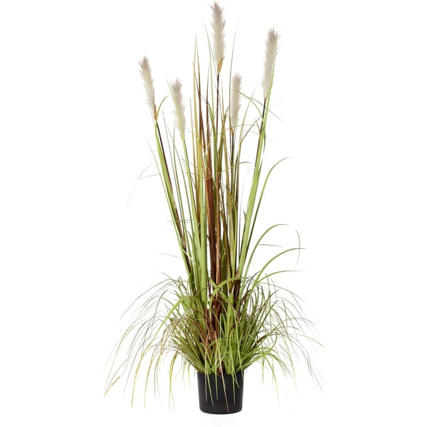 60-inch Potted Reed Plant X5 With Pvc Grass (Pack of 2)