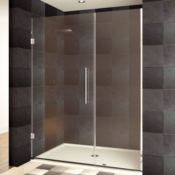 LessCare 42-60 x 72-inch Frameless Clear Glass Chrome ...