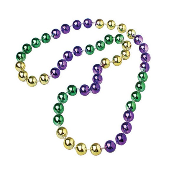 Mardi Gras Multicolored Beaded Necklace
