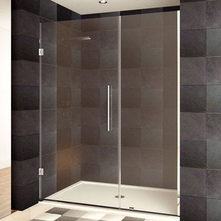 LessCare 36-54 x 72-inch Frameless Chrome Finish Clear Glass Shower Doors