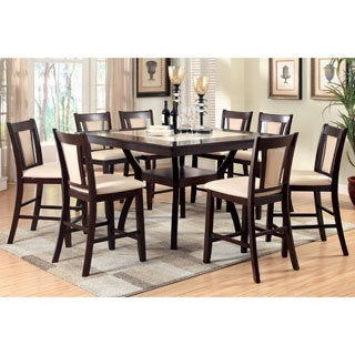 Furniture of America Dionne Dark Cherry Counter Height Dining Table