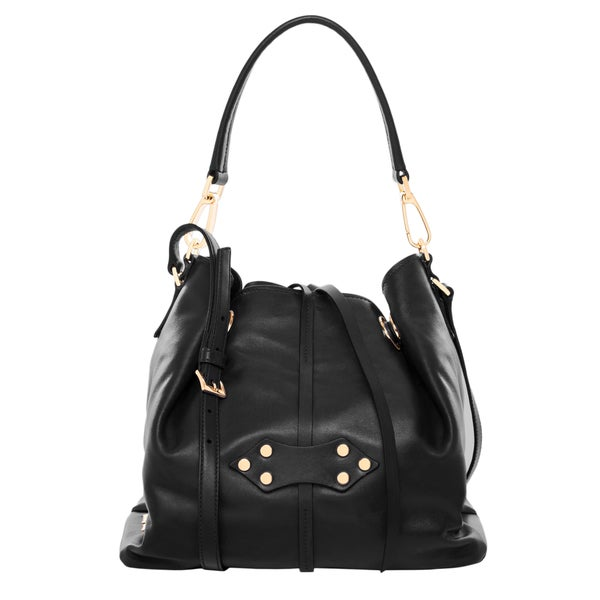 Miu Miu Black Leather Bucket Bag