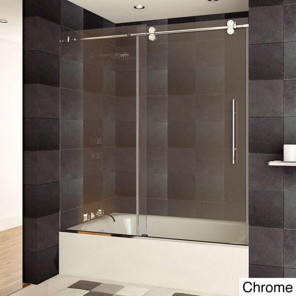 Lesscare Luxury Tempered Glass Frameless Bathtub Shower