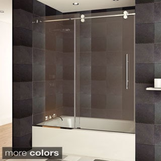 LessCare Luxury Tempered Glass Frameless Bathtub/ Shower Door