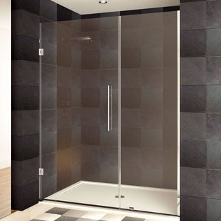 lesscare 24 36 x 72 inch frameless clear glass chrome finish shower door 16981614 overstock. Black Bedroom Furniture Sets. Home Design Ideas