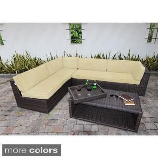Bellini Sorano Wicker 4-piece Sunbrella Fabric Deep Seating Sofa Set