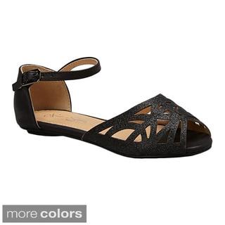 Nichole Simpson Women's Glitter Gladiator Sandal