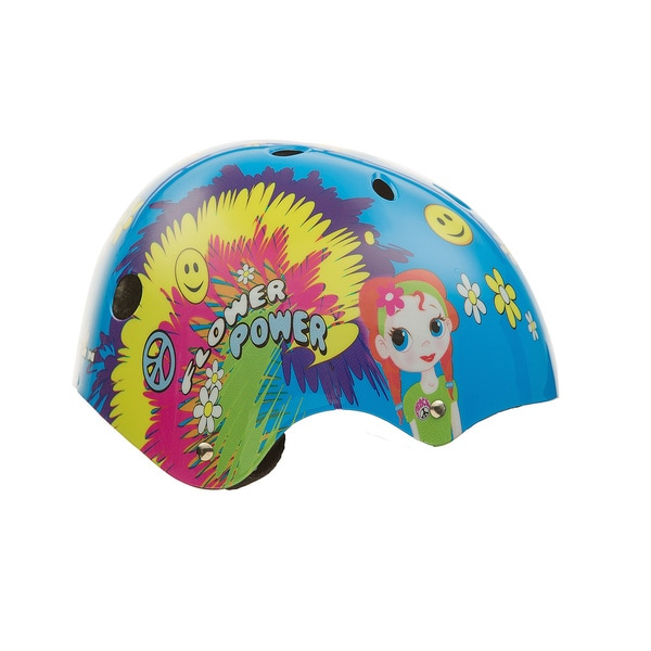 Titan Flower Power Princess Girls Blue Skateboard Helmet
