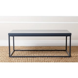 ABBYSON LIVING Durham Antiqued Blue Wood Coffee Table