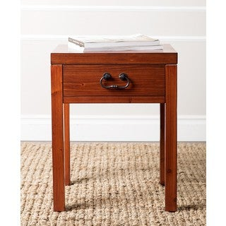 ABBYSON LIVING 'Lockwood' Antiqued Burgundy End Table