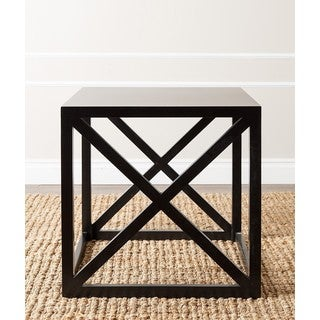 ABBYSON LIVING 'Raven' Antiqued Black X-shaped End Table