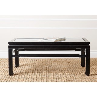 ABBYSON LIVING 'Atkins' Antique Black Glass-top Coffee Table