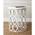 ABBYSON LIVING 'Vista' White Iron Circles Round End Table