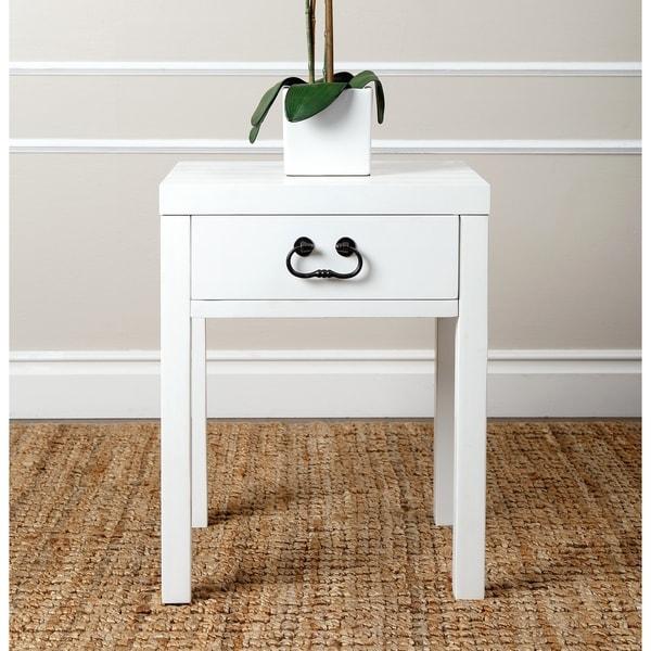 ABBYSON LIVING 'Lockwood' Antiqued White End Table