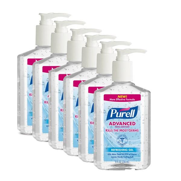 Purell Original 8-ounce Hand Sanitizer (Pack of 6)